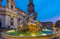 The Fountain of Four Rivers, Piazza Navona, -Rome, Italy